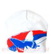 шапка белая триколор